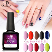 Wholesale remove gel nails for sale - Saviland Easy Use Easy Remove One Step Gel Polish ml colors Nail Gels Lacquer In UV Gel Nails Gel pick