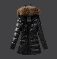 les parkas blancs de la femme achat en gros de-France luxe manteau d'hiver femmes minces vêtements de dessus 90% blanc duvet d'oie manteaux col montant Casual Parkas Slim veste en ligne E551