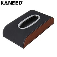 Wholesale hotel tissue - KANEED tissue case car Universal Home Office Hotel Car Tissue Box Case Holder Box Paper Napkin Bag (Not Include Na