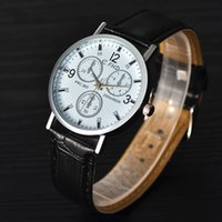 Wholesale Digital Leather Watch - 2017 full automatic mechanical watch double-faced men watch waterproof night light business leather watch.
