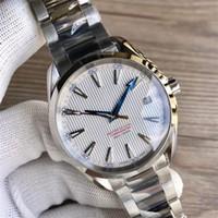 bracelet en nylon achat en gros de-Montres de luxe Bracelet en acier inoxydable Aqua Terra 150m Master 41.5mm en acier inoxydable 23110422101004 41.5mm montre homme