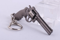 anel pistola pistola venda por atacado-6 cm Em Miniatura Revólver Arma Pistola Modelo chaveiro Chave Anéis New Mini Gun chave Cadeia Para Homens Jóias Surpresa Presente