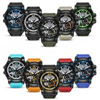 Wholesale led watches online - Personality Men s Watch Simulated Impact Men s Army Watch Waterproof Date Calendar Leading Sports Relogio Male