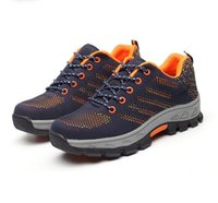 Wholesale Anti Puncture - Men Shoes Work Safety Shoes Steel Toe Cap Anti-Smashing Puncture Proof Durable Breathable Protective Footwear 35-45