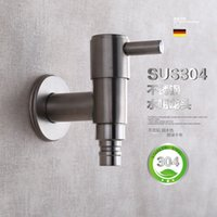 Wholesale mop machines - Washing Machine Faucet Into Wall Mop Pool Single Cold Faucet Kitchen Bathroom Brushed lo4128
