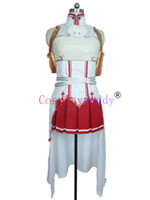 Wholesale cosplay yuuki resale online - Sword Art Online Asuna Yuuki Cosplay Costume