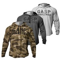 Wholesale Sweater Men Mens Bodybuilding Hoodies Gym Workout Shirts Hooded Sport Pullover Men Long Sleeve Jumper Chandal Hombre Camouflage Hoodie