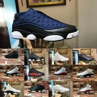 Wholesale pure buttons - Cheap Sale New 13 Italy Blue black cat Hyper Royal GS Bordeaux DMP Chicago men basketball shoes 13s bred Pure Money Casual aIrS Sneakers