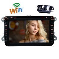 Wholesale Rearview Screen - Rearview Camera+EinCar Android 6.0 Double Din Car Stereo car DVD Player GPS Navigation 8'' Capacitive Touchscreen In Dash Auto Radio BT