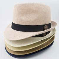 3ed1491f3fa33 Wholesale vintage fedoras for sale - Paper Straw Fedora Women Men Designer  Hats for Fashion Summer