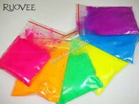 nagellack gemischte farben großhandel-60gram (= Mixed 6 NEON Farben) Fluoreszierende Neonpigmentpulver für NagellackmalereiDrucken