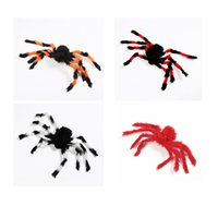 Wholesale spider toy scary online - Hot Halloween Wacky Decoration Spiders Scary Props Big Spiders Ghost Festival Spoof Plush Toy