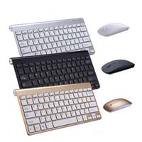ingrosso mouse di tastiera del bluetooth android-3.0 Portable Wireless Bluetooth Keyboard per Mac Laptop TV Box 2.4G Mini Mouse Set Forniture per ufficio per iOS Android Win 7 10