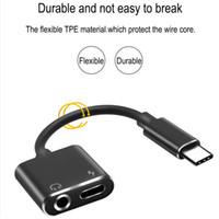 kulaklıklar kadın ses toptan satış-USB C Tipi Huawei 7 8 artı X'in iOS Şarj Splitter Kulaklık Kablo İçin Kadın 3.5mm Kulaklık 1 C Tipi Erkekte Adaptör Audio 2 Şarj