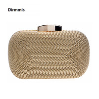 Wholesale woven evening clutch for sale - Group buy 2018 new women messenger bags brand fashion wallet woven bag exquisite bride evening bag luxury knitting clutch vintage hand bag D18110106