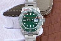 зеленая рамка автоматическая оптовых-Завод поставщик роскошные AAA наручные часы Сапфир 40 мм 116610LV Халк керамический зеленый циферблат / безель Азия 2813 автоматические механические мужские часы