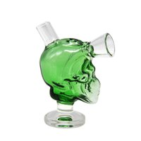 ingrosso bolla a mano-New Skull Mini Bongs The Marziano Glass Blunt Bong Bubbler Joint Fumetti Bubble Small Water Pipe Small Pipes Hand Pipe