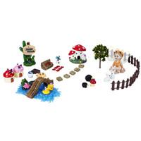ingrosso set gnomi da giardino-37 pz / set in miniatura fata accessori da giardino artigianato in resina bonsai decorativo decorazione in miniatura gnome muschio terrari figurine