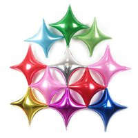 Wholesale inflatables stars decorations - 10inch Four Corners Star Foil Balloons Baby Birthday Wedding Decoration Inflatable Star Air Globos Free Shipping ZA6962