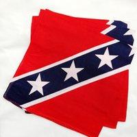 ingrosso fascia bandiera ribelle-90 * 150 cm confederato ribelle bandiera bandana fa-stracci guerra civile bandiera bandana fascia Bandane poliestere nazionale cotone per giochi all'aperto