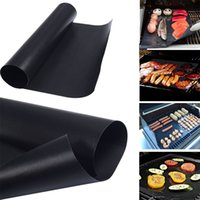 Wholesale Travel Bbq Grill - 33*40CM BBQ Grill Mat Reusable Non-stick Barbecue Baking Liner Picnic Cooking Pad Sheet Microwave Oven Cooking Mat AAA184