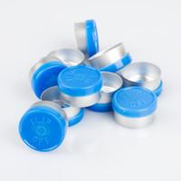 ingrosso flip off il flaconcino-100pcs fiala di vetro di iniezione blu flip off cap per fiala di vetro caps Flip Off 13mm 20mm top di tappo farmaceutico per crimpare