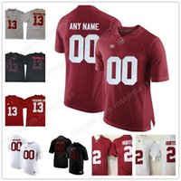 Wholesale 3xl Blacks Jersey - Custom Mens Youth Alabama Crimson Tide College Football black red white Personalized Kids Stitched Any Name Number Tagovailoa Jerseys S-3XL