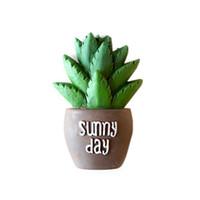 ingrosso succulente-OULII Magnete del cactus del cactus succulente Magneti del frigorifero del creatore della resina di DIY creativi autoadesivo per la decorazione domestica della cucina