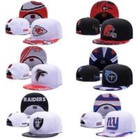 Wholesale Snapbacks Men - 2018 free shipping New Football Snapback Adjustable Snapbacks Hats Caps Sports Team Quality Caps For Men And Women