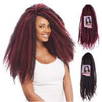 Wholesale afro twist braiding hair for sale - Group buy 18inch g Synthetic Kinky Twist Hair Color Hair Crochet Braid JANET COLLECTION NOIR AFRO Rainbow Afro Braiding Hair