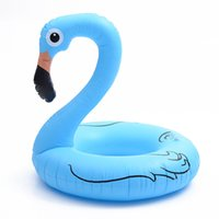 boya salvavidas al por mayor-Flotadores inflables Tubos Inflado Flamingo Swim Ring Suministros de agua Mount Toy Swan Life Booy Cute Cartoon Popular