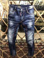Wholesale cheap rip jeans for sale - Famous Brand Pierre Rock Biker Jeans  Men Ripped Denim f556359f5e4e