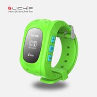 ingrosso orologio intelligente 3g gps-Orologio intelligente LICHIP Q50 smart watch per bambini GPS orologio per bambini GPS tracker OLED Supporto per schermo LCD 2G 3G 4G sim card