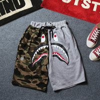 Wholesale Mens Terry Shorts - Wholesale-2018 Brand New high quality Tiger head Shark apes shorts Men's Shorts Mens Summer Beach Surf Swim Sport Swimwear