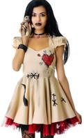 bonecas extravagantes venda por atacado-Moda Feminina Meninas Traje de Halloween Voodoo Trajes Da Boneca Bruxa Doutor Cosplay para AdultosCriança Fancy Dress sexy