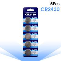 Wholesale 3v button cell battery resale online - 5 V Lithium Coin Cells Button Battery CR2430 DL2430 BR2430 ECR2430 KL2430 EE6229