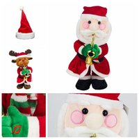 Wholesale hat for snowman for sale - Funny Kawaii Music Doll For Children Birthday Party Gift Toy Santa Claus Elk Snowman Hat Christmas Electric Novelty Items CCA10649