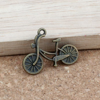 encantos de la bicicleta colgantes al por mayor-Colgantes de los encantos de la bicicleta 100 Unids / lote 25.8x19mm Joyería de Aleación de bronce Antiguo DIY Pulseras Aptas Collar Pendientes A-312