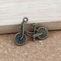pingentes de bicicleta encantos venda por atacado-Encantos Da bicicleta Pingentes 100 Pçs / lotes 25.8x19mm Liga de bronze Antigo Jóias DIY Fit Pulseiras Colar Brincos A-312