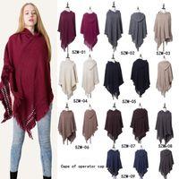 d39887394cb14 Wholesale tribal coats for sale - 9 Colors Women Winter Bohemian Hooded Coat  Cape Wrap Poncho