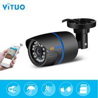 xmeye cctv großhandel-YITUO 3,6 mm Wifi IP-Kamera 1080P 720P E-Mail-Benachrichtigung XMEye ONVIF P2P Bewegungserkennung RTSP 48V POE Überwachung CCTV Outdoor