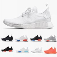 Wholesale 2018 R1 Shoes Discount Cheap Japan red gray NMD Runner R1 Primeknit PK Low Men s Women s shoes Classic Fashion Sport