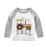 Wholesale boys car shirts for sale - kids fall NEW arrival boys Kids cartoon Car design long Sleeve T shirt kids causal cotton girl causal T shirt