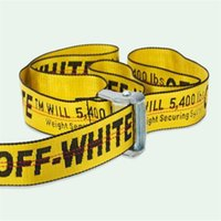 Wholesale off brands - a02 with box 2018 new fashionable high quality canvas belt designer brand men's leisure multi-colored canvas off belt men and women.