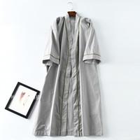 vestidos de noche de algodón de manga corta al por mayor-Batas Hombres Manga corta Ropa de dormir de algodón Pijamas para hombres Ropa de dormir para dormir Vestido de noche