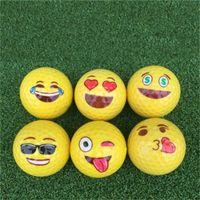 karikatür toprak toptan satış-Marka Yeni Çift Güverte Golf Çocuk Karikatür Renk Topu Altın İfade Kapalı Golf Açık Golf Kar Toprak 2 9 gm dd