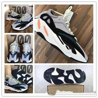 Wholesale runner accessories - TOP quality with original Shoes & Accessories New Kanye West Wave Runner 700 Boost Mens running shoes Women sports Boost bottom size 36-45