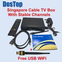 Wholesale Tv Box Receiver Singapore - Latest V9 PRO FOR starhub tv box Singapore HD 2017 v8 golden blackbox cable tv star hub channels stable+USB WIFI set top box