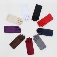 eldiven örneği toptan satış-1 Pair Bahar Yaz Naylon Eldiven Erkek Kadın Unisex Görgü Ince Kısa Eldiven