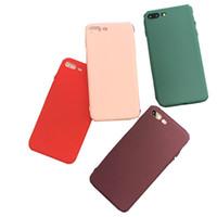 rotwein telefon fall großhandel-Einfache weinrote schwarze mattierte Telefonoberteil-Kastenabdeckung für iphone7 / 6 Handyoberteil iPhone 6s plus weiches Shell